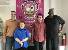 JCFS TDS Vocational Program Partners with Mini Man Monkey Brain Candy Shop